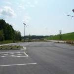 solar-powered lighting for the parking lot