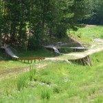 mountain biking skills area